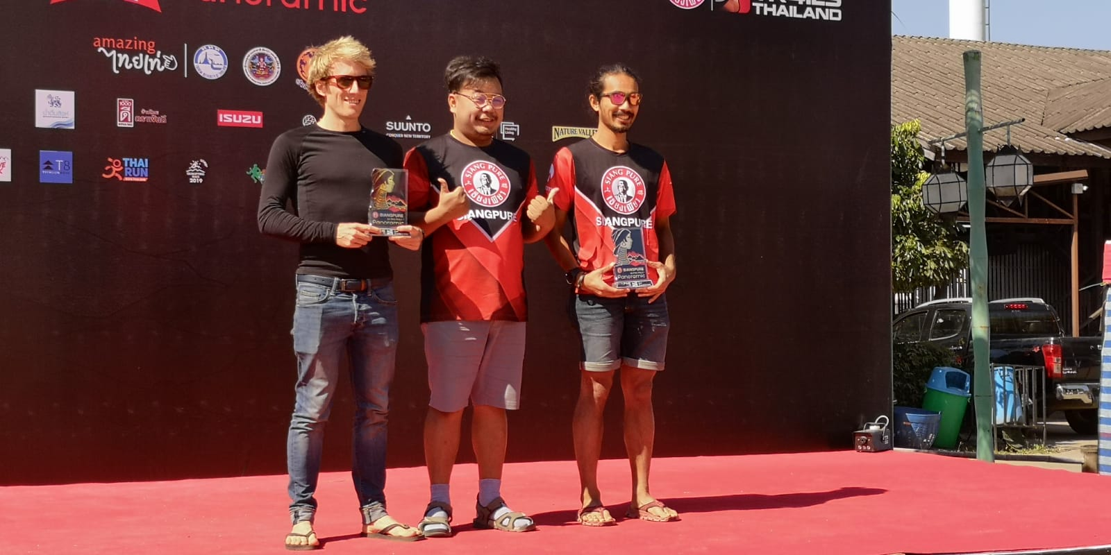 Receiving The Trophy With Suki in 2nd Place